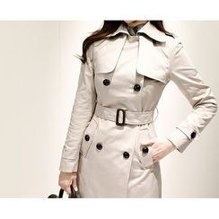 Marlangrouge - Double-Breasted Trench Coat