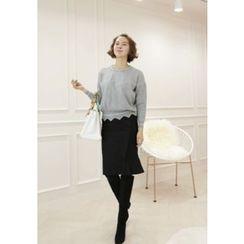 Lemite - Wool Blend Skirt