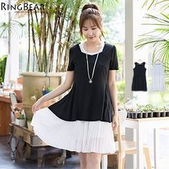 RingBear - Chiffon Hem Sleeveless Dress