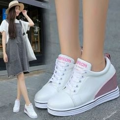 YIVIS - Panel Hidden Wedge Sneakers