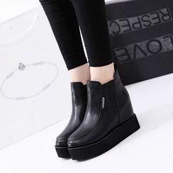 YIVIS - Platform Hidden Wedge Short Boots