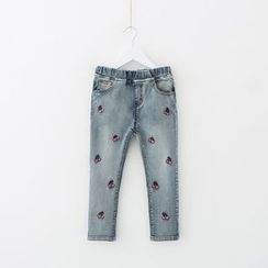 Seashells Kids - Kids Cherry Embroidered Jeans