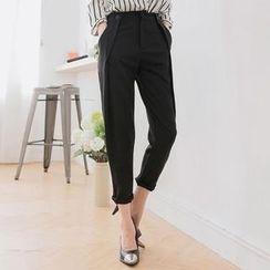 Tokyo Fashion - Pleated Plain Cropped Pants