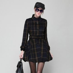 KAKO KARA - Plaid Coatdress with Belt