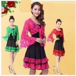 AUM - 拉丁舞套装: 连衣裙 + 短外套