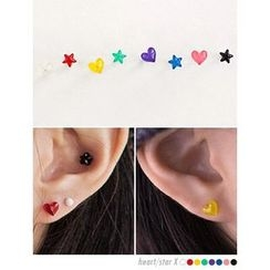 PINKROCKET - 2 Type of Colored Earrings