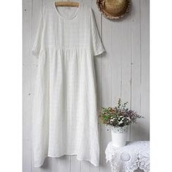 Rosadame - Short-Sleeve Maxi Dress