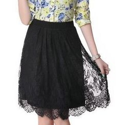 Mythmax - Lace A-Line Skirt