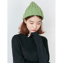 FROMBEGINNING - Rib-Knit Colored Beanie