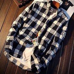 DTT - Gingham Long-Sleeve Shirt