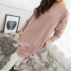 PIPPIN - Pocket-Side Dip-Back Pullover Dress