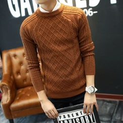 Bay Go Mall - Cable-Knit Sweater