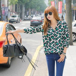 REDOPIN - Leopard Pattern Shirt