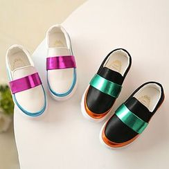 Luco - Kids Metallic Color Block Slip-Ons