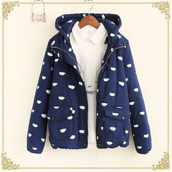 Fairyland - Cloud Print Hooded Padded Jacket