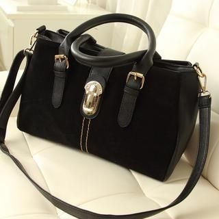 Miss Sweety - Metal-Accent Buckled Tote