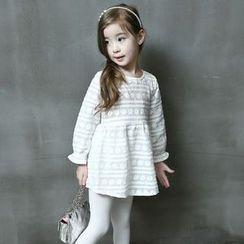Spring Swallow - Kids Long-Sleeve Lace Dress