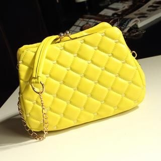 Miss Sweety - Kiss-Lock Quilted Cross Bag
