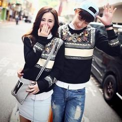 Evolu Fashion - Couple Matching Print Pullover