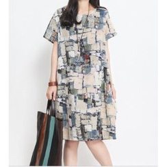 Splashmix - Short-Sleeve Patterned T-Shirt Dress