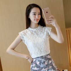 Fancy Show - Sleeveless Lace Top