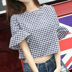 Fashion Street - 3/4-Sleeve Off Shoulder Top