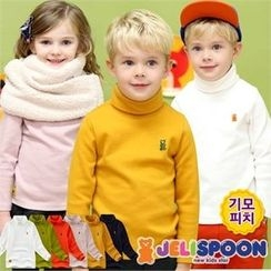 JELISPOON - Kids Turtle-Neck Fleece T-Shirt