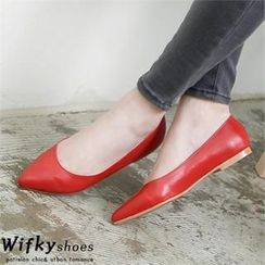 Wifky - Faux-Leather Flats (2 Designs)