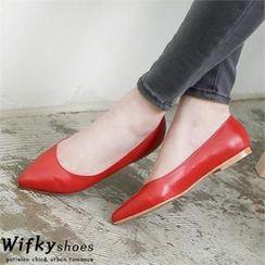 Wifky - 仿皮平底鞋 (兩款)