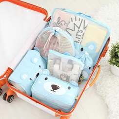Lazy Corner - Bear Print Luggage Organizer