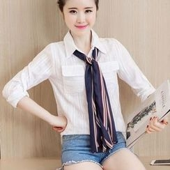EFO - Long-Sleeve Pocket-Accent Blouse