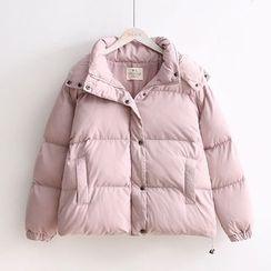 TOJI - 連帽夾棉拉鏈夾克