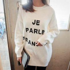 FancyMe - Lettering Long Sweater