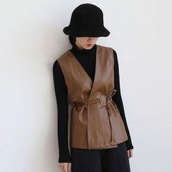 ELLY - Faux Leather Vest