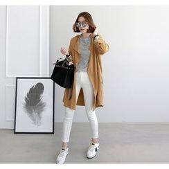 Miamasvin - Pocket-Side Open-Front Trench Coat