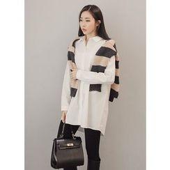 J-ANN - Plain Long Shirt