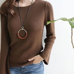 DAILY LOOK - Faux-Leather Drop Necklace