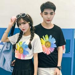 Evolu Fashion - Couple Matching Short-Sleeve Print T-Shirt