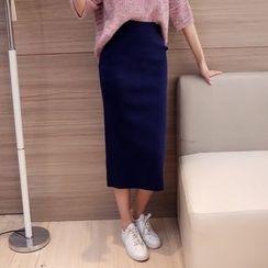 小沫商城 - 針織中長裙