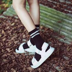 LIFEDIFF - Set of 4: Striped Socks