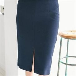 MAGJAY - Slit-Front Pencil Skirt