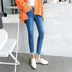 ZIZIBEZIRONG - Distressed Skinny Jeans