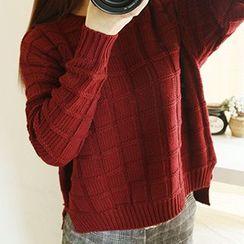 Rocho - Long-Sleeve Ribbed Sweater