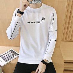 Alvicio - Letter Panel Sweatshirt