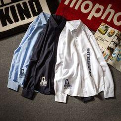 Alvicio - Letter Long-Sleeve Shirt