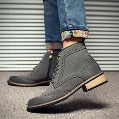 Shino - Wing-Tip Lace-Up Chukka Boots