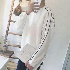 DragonRoad - Contrast Trim Sweatshirt