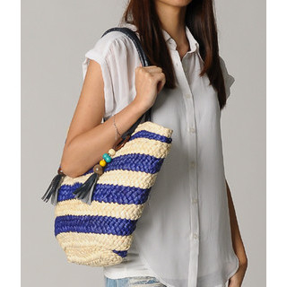 yeswalker - Striped Straw Tote