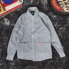Milioner - 长袖细条纹衬衫