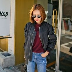 PPGIRL - Shirred Flight Jacket